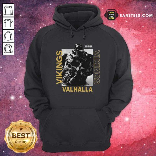 Vikings Yule Valhalla Hoodie - Design By Earstees.com