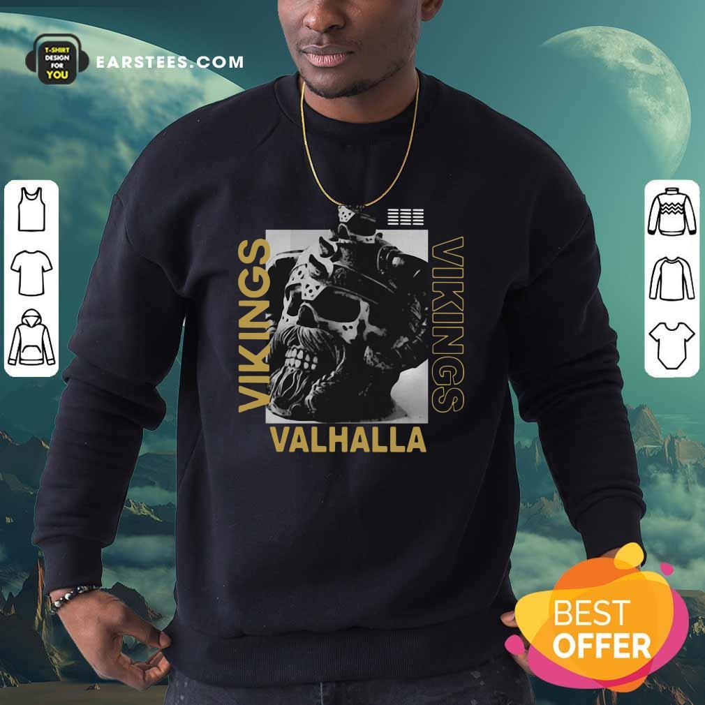 Vikings Yule Valhalla Sweatshirt - Design By Earstees.com