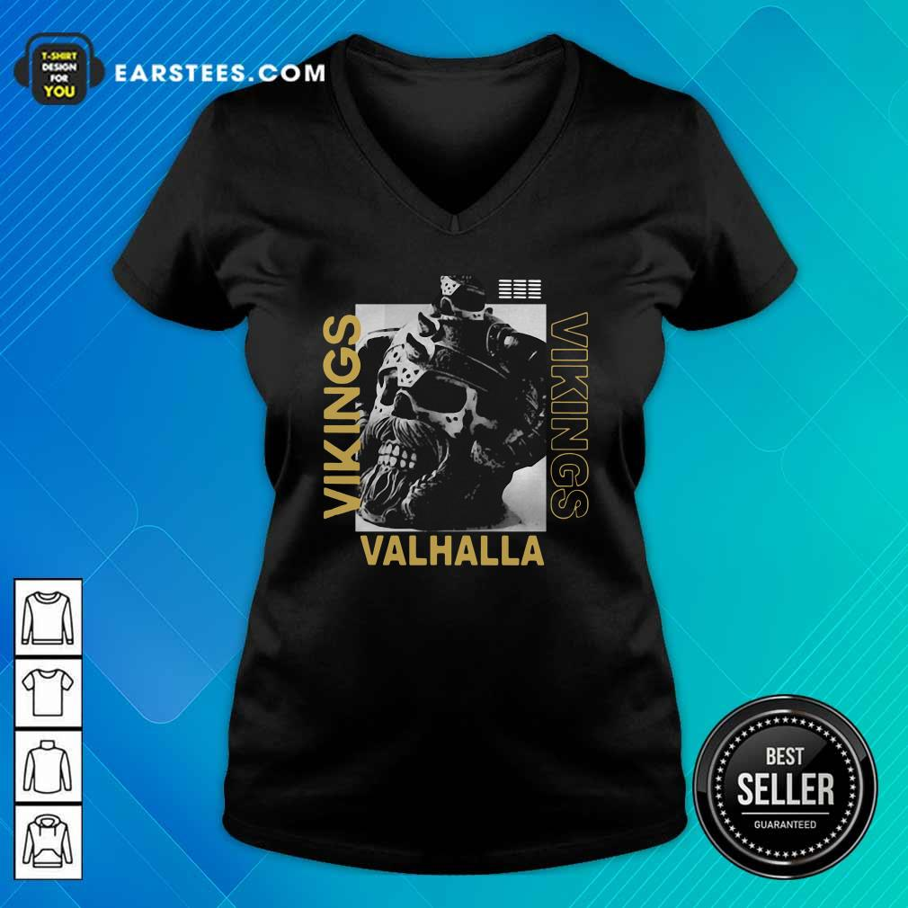 Vikings Yule Valhalla V-neck - Design By Earstees.com