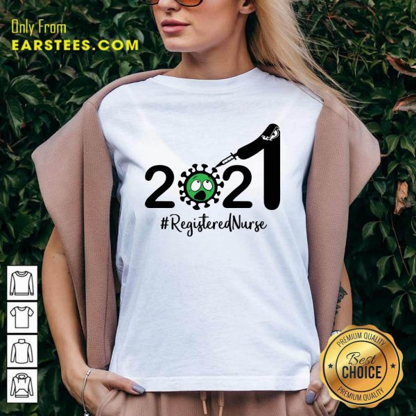 2021 Coronavirus #Registered Nurse V-neck - Design By Earstees.com