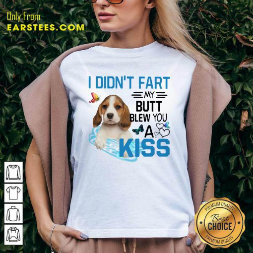 Beagle I Didnt Fart My Butt Blew You A Kiss V-neck- Design By Earstees.com