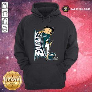 Betty Boop Philadelphia Eagles Football Hoodie- Design By Earstees.com