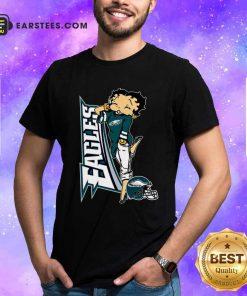 Betty Boop Philadelphia Eagles Football Shirt- Design By Earstees.com