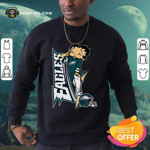Betty Boop Philadelphia Eagles Football Sweatshirt- Design By Earstees.com