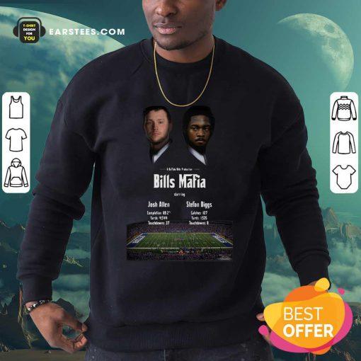 Josh Allen Vs Stefon Diggs In A Buffalo Bills Production Bills Mafia 2021 Sweatshirt- Design By Earstees.com