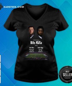 Josh Allen Vs Stefon Diggs In A Buffalo Bills Production Bills Mafia 2021 V-neck- Design By Earstees.com