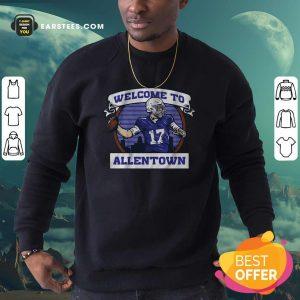 Josh Allen Welcome To Allentown Sweatshirt- Design By Earstees.com
