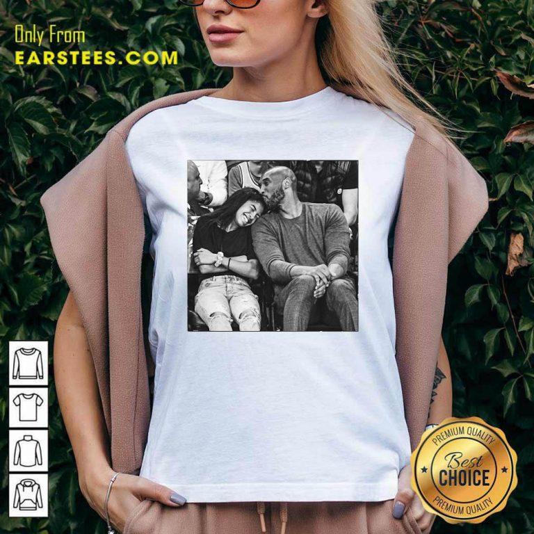 Kobe Bryant And Gigi V-neck- Design By Earstees.com