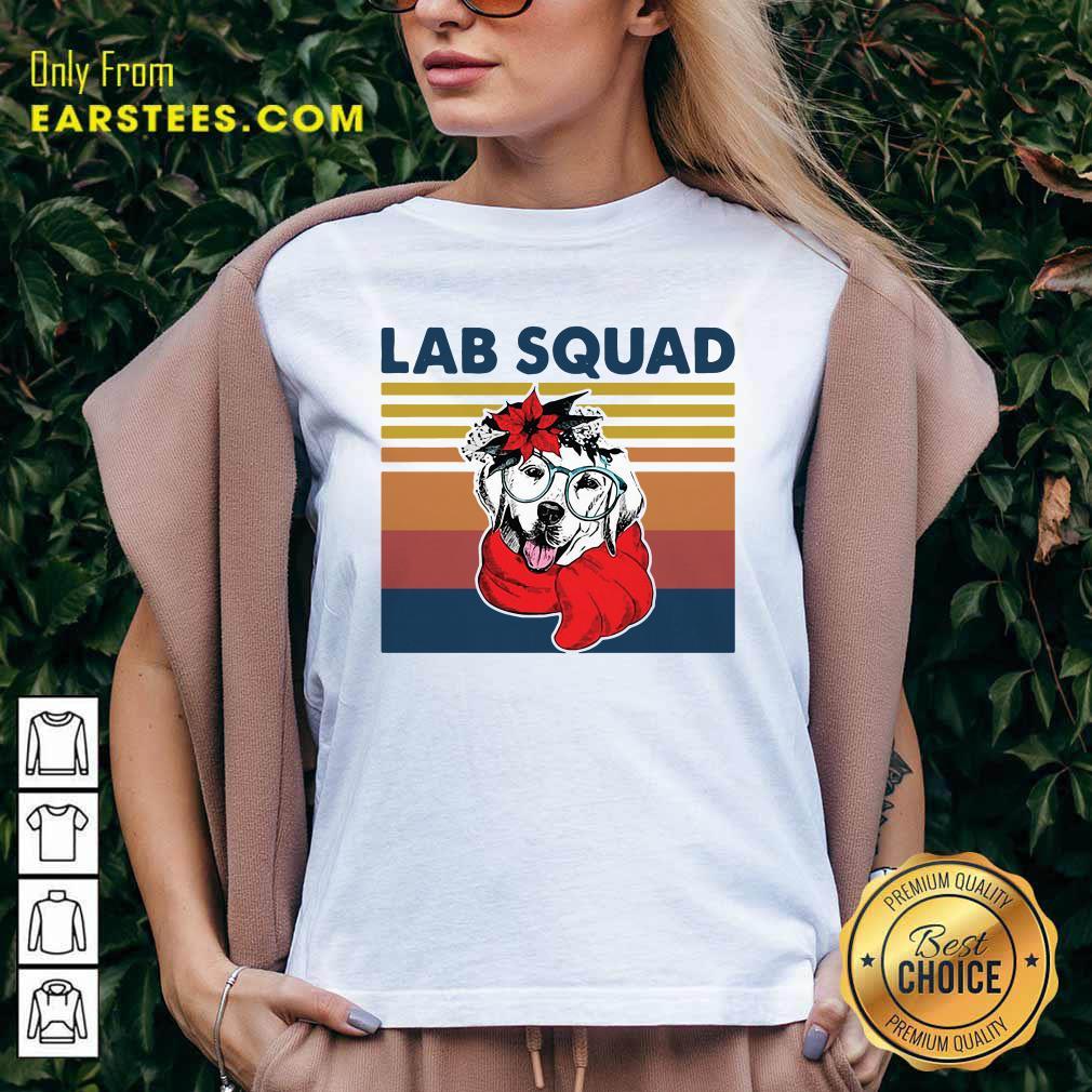 Labrador Lab Squad Duck Hunting Vintage V-neck - Design By Earstees.com