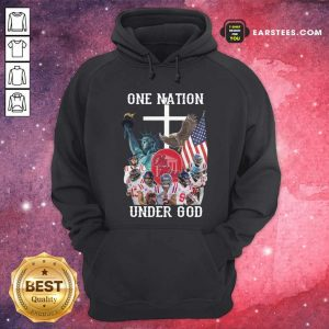 One Nation Under God Ole Miss Football American Flag Hoodie - Design By Earstees.com