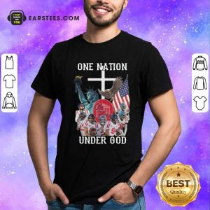 One Nation Under God Ole Miss Football American Flag Shirt - Design By Earstees.com