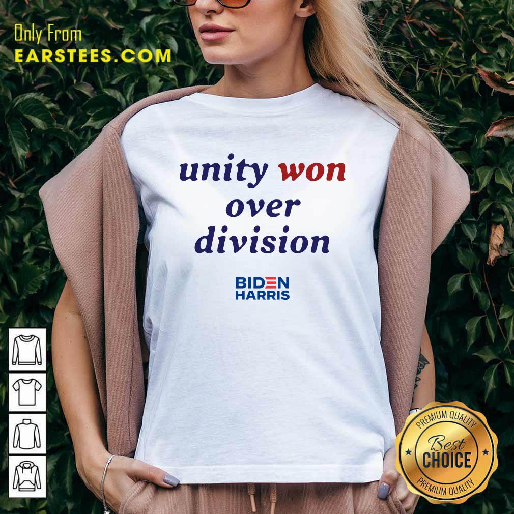 Unity Won Over Division Biden Harris V-neck- Design By Earstees.com