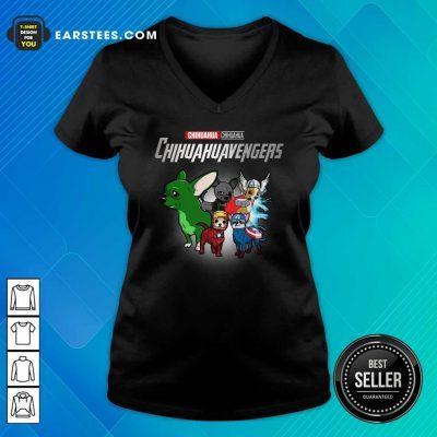 Chihuahua Marvel Avengers Chihuahuavengers V-neck- Design By Earstees.com