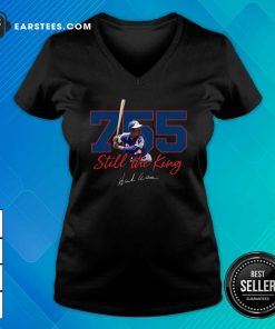 Corked Bat 755 Still The King Signature 2021 V-neck- Design By Earstees.com