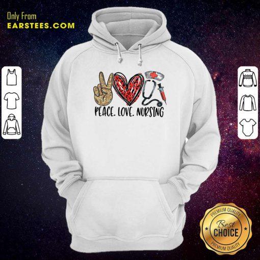 Diamond Peace Love And Nursing 2021 Hoodie- Design By Earstees.com
