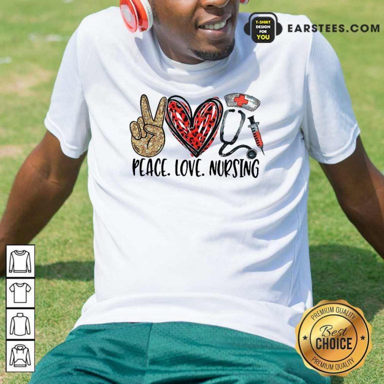 Diamond Peace Love And Nursing 2021 Shirt- Design By Earstees.com