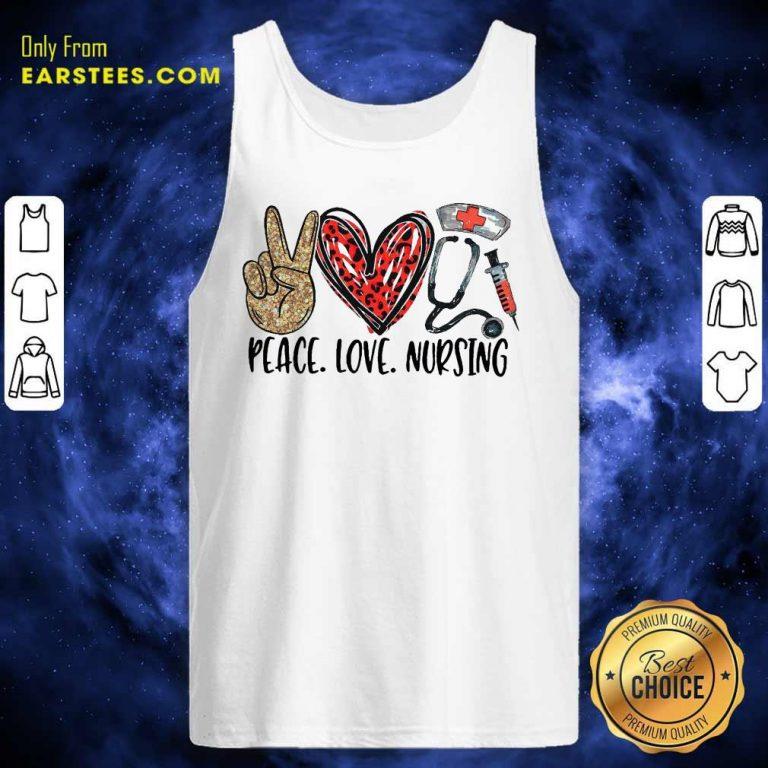 Diamond Peace Love And Nursing 2021 Tank Top- Design By Earstees.com