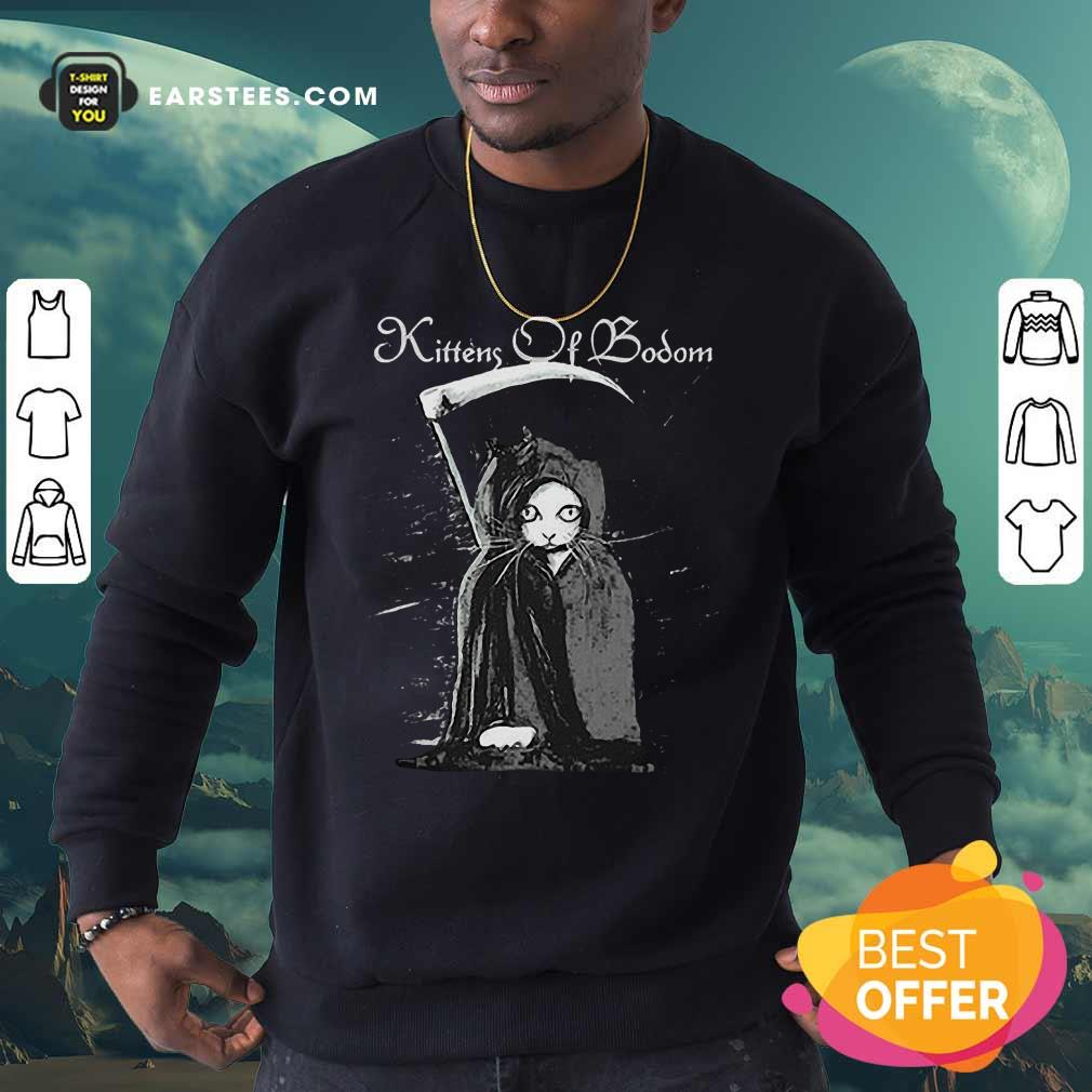 From Cats Are Metal Kittens Of Bodom Sweatshirt- Design By Earstees.com