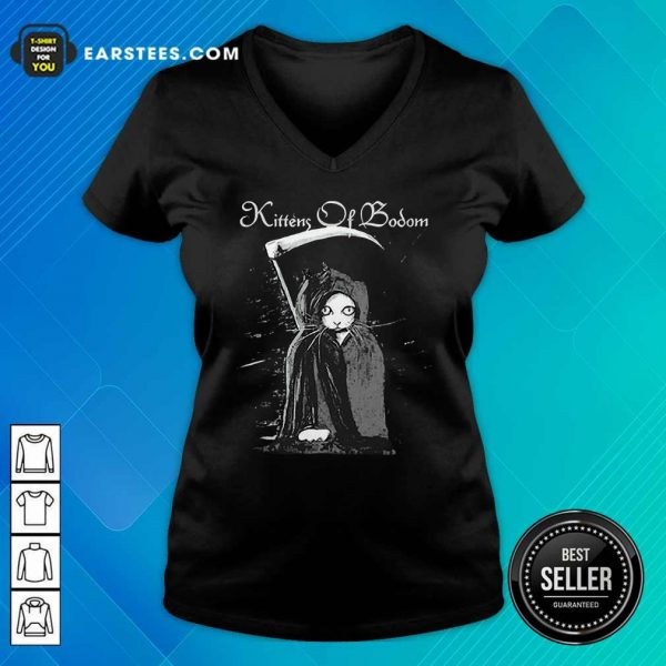 From Cats Are Metal Kittens Of Bodom V-neck - Design By Earstees.com