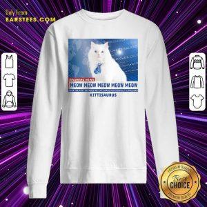 Kittisaurus News Anchor CoCo Cat Sweatshirt - Design By Earstees.com