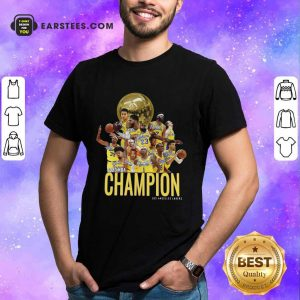 Los Angeles Lakers Champion 2020 NBA Signatures Shirt- Design By Earstees.com