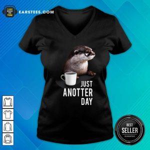 Otter Just Anotter Day V-neck - Design By Earstees.com