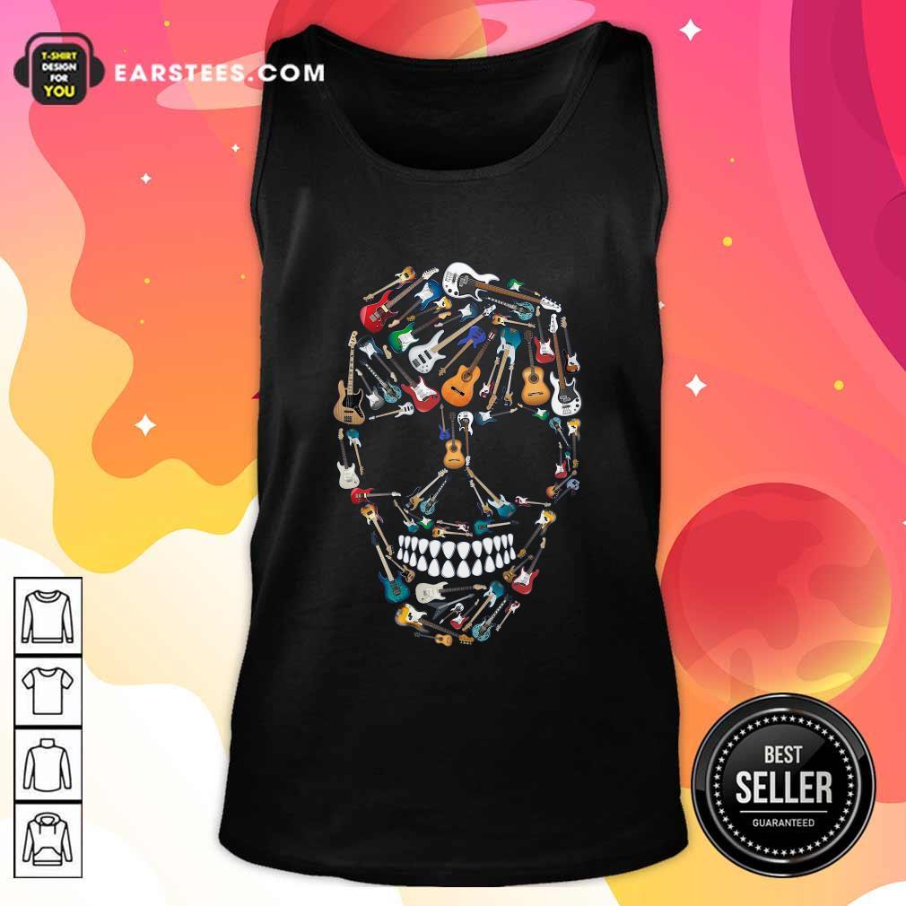 Skull Guitars Tank Top- Design By Earstees.com