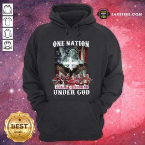 Alabama Crimson Tide One Nation Under God Signatures 2021 Hoodie- Design By Earstees.com