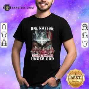 Alabama Crimson Tide One Nation Under God Signatures 2021 Shirt- Design By Earstees.com
