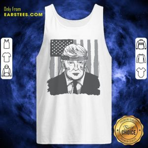 America Ribbon Usa Flag Donald Trump 2020 Graphic Tank Top - Design By Earstees.com