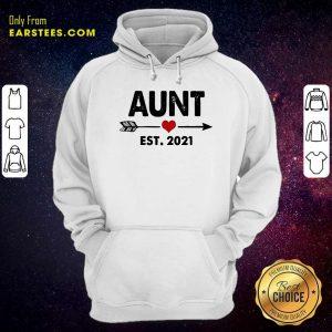 Aunt Est 2021 Heart Hoodie- Design By Earstees.com