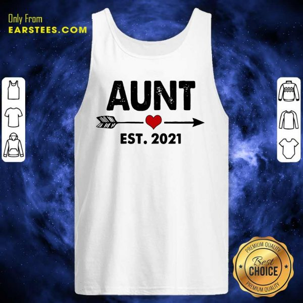 Aunt Est 2021 Heart Tank Top- Design By Earstees.com