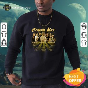 Cobra Kai 2018 2021 03 Season 30 Episodes Signatures Sweatshirt - Design By Earstees.com