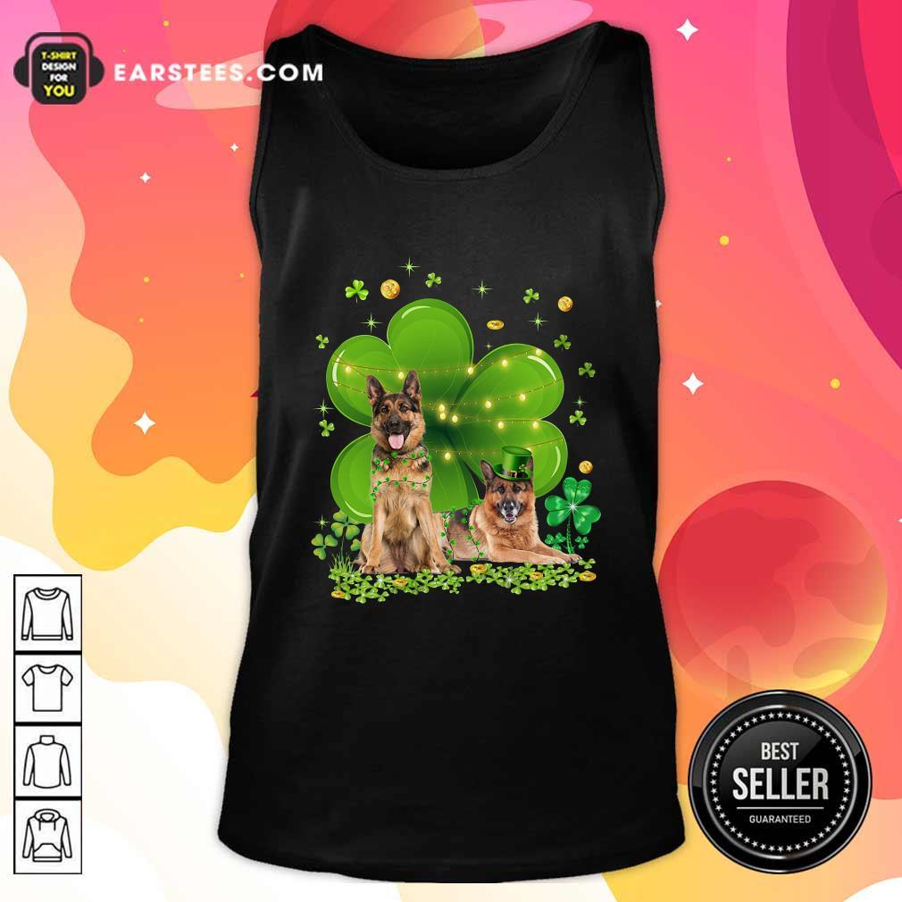 German Shepherd Shamrock St Patricks Day Sweatshirt- Design By Earstees.com