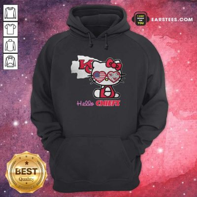 Hello Kitty Hello Kansas City Chiefs With American Flag 2021 Hoodie- Design By Earstees.com