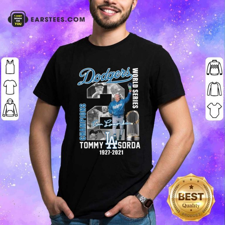 Los Angeles Dodgers Tommy Lasorda World Series 1927 2021 Signature Shirt- Design By Earstees.com