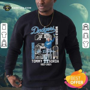 Los Angeles Dodgers Tommy Lasorda World Series 1927 2021 Signature Sweatshirt- Design By Earstees.com