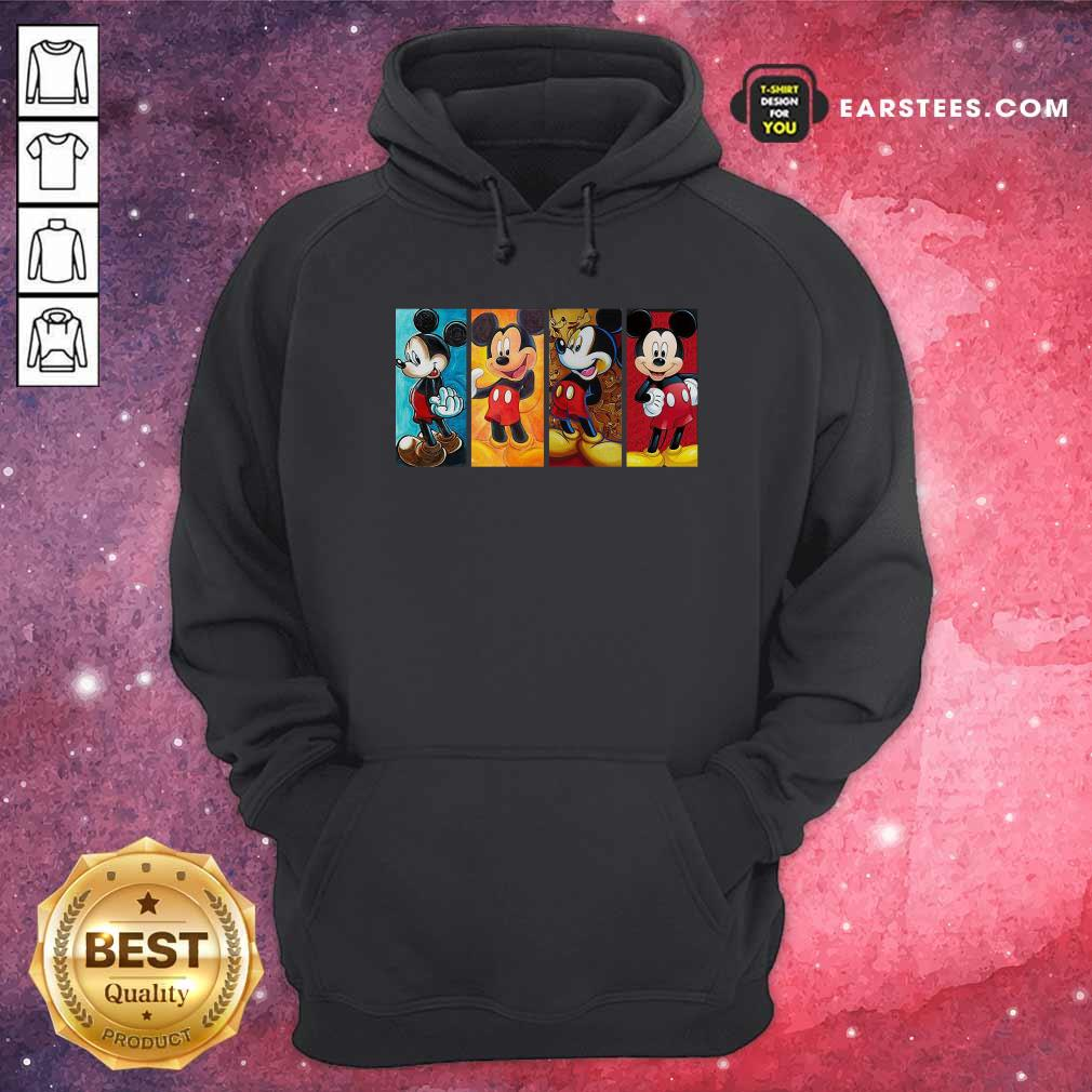 Mickey Mouse Be Strong Be Brave Be Humble Be Badass Hoodie- Design By Earstees.com