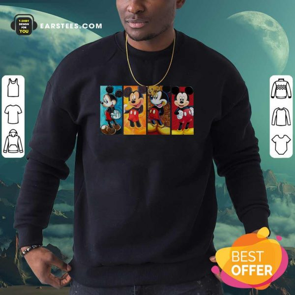 Mickey Mouse Be Strong Be Brave Be Humble Be Badass Sweatshirt- Design By Earstees.com