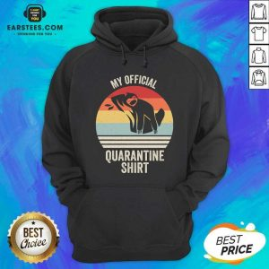 Official My Official Quarantine Sloth Face Mask Vintage Retro Hoodie - Design By Earstees.com