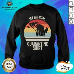 Official My Official Quarantine Sloth Face Mask Vintage Retro Sweatshirt - Design By Earstees.com