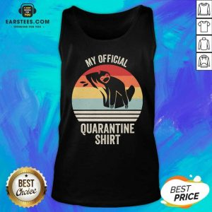 Official My Official Quarantine Sloth Face Mask Vintage Retro Tank Top - Design By Earstees.com