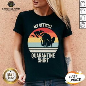 Official My Official Quarantine Sloth Face Mask Vintage Retro V-neck - Design By Earstees.com