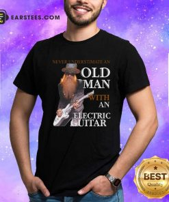 Never Underestimate An Old Man With An Electric Guitar 2021 Shirt- Design By Earstees.com
