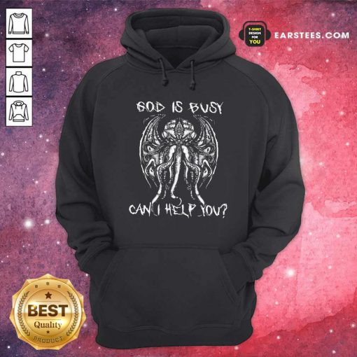 Octopus God Is Busy Can I Help You Hoodie- Design By Earstees.com