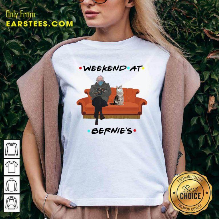 Weekend At Bernies V-neck- Design By Earstees.com