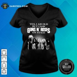 Yes I Am Old But I Saw Guns N Roses Rock Band On Stage V-neck- Design By Earstees.com