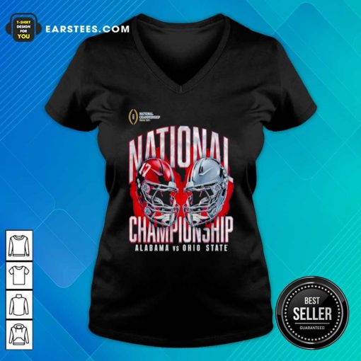 Alabama Crimson Tide Vs Ohio State Buckeyes College Football Playoff 2021 V-neck- Design By Earstees.com