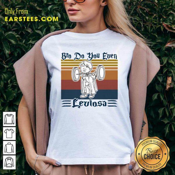 Bro Do You Even Leviosa Vintage Retro V-neck- Design By Earstees.com