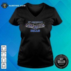 Buffalo Bills Football 61st Anniversary V-neck - Design By Earstees.com